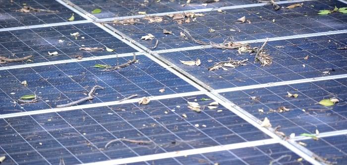 Verschmutzung der Photovoltaikanlage